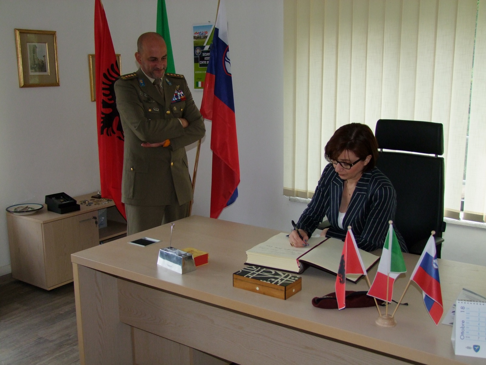 NATO SFA COE: the Albanian Ambassador visits the Centre